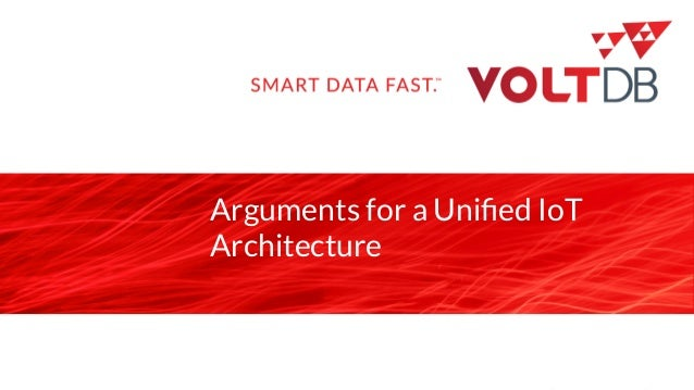 page Arguments for a Unified IoT Architecture