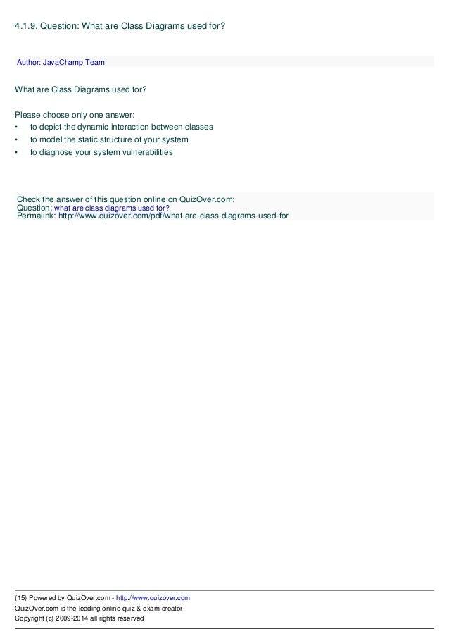 Uml unified modeling language quiz 15 ccuart Images