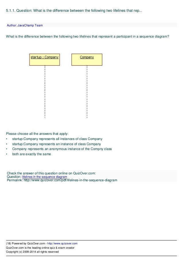 Uml unified modeling language quiz sequence diagram questions 18 ccuart Image collections