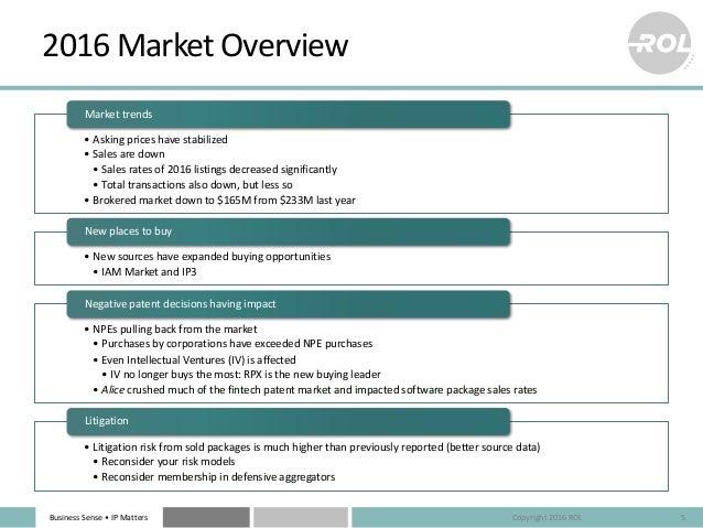 BusinessSense• IPMatters 2016MarketOverview • Askingpriceshavestabilized • Salesaredown • Salesratesof2016li...
