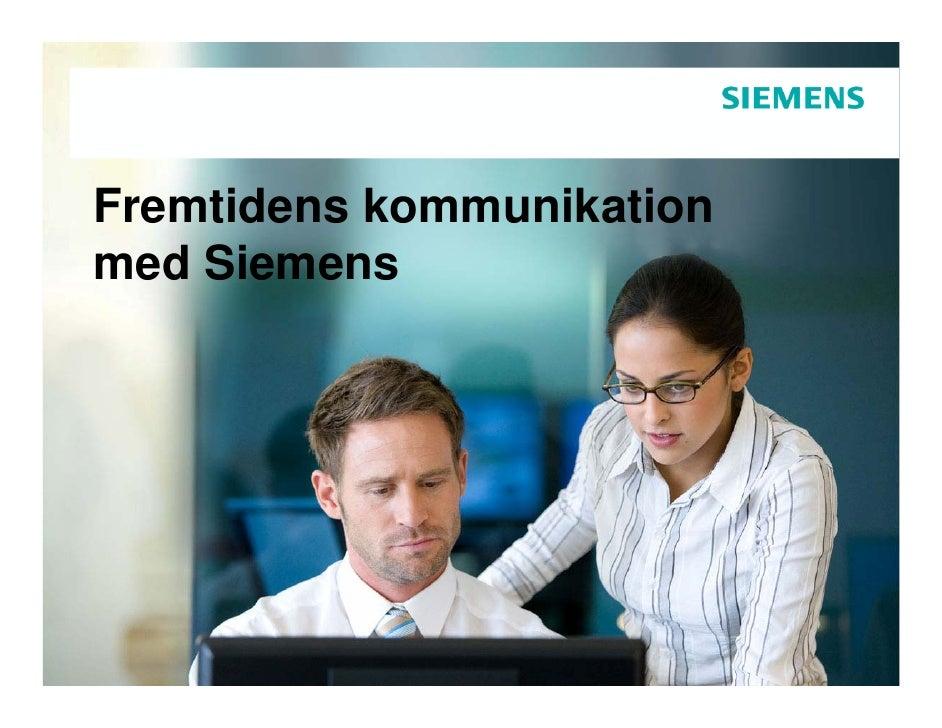 Fremtidens kommunikation med Siemens
