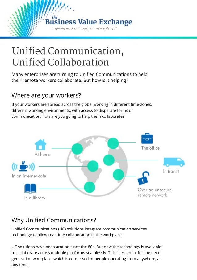 Unified Communications, Unified Collaboration