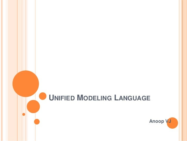 UNIFIED MODELING LANGUAGE Anoop VJ