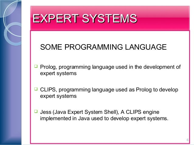 Expert Systems & Prolog