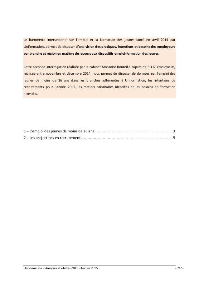 Synthèse baromètre jeunes - février 2015 Slide 2