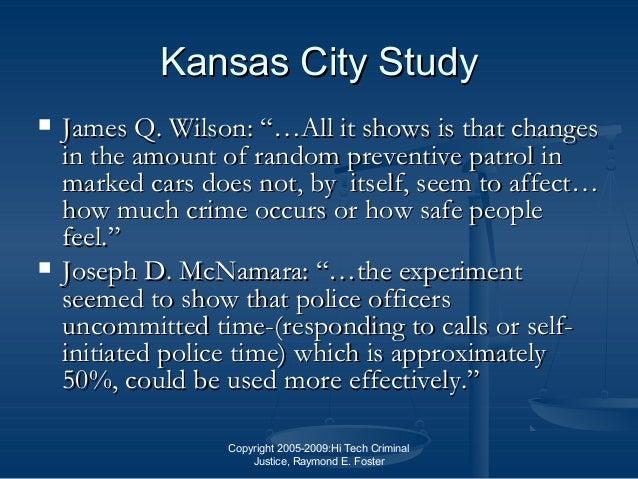 Kansas City preventive patrol experiment