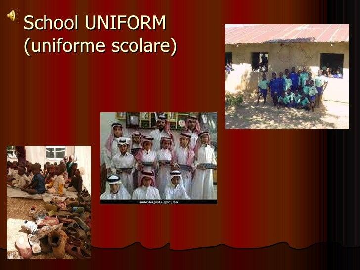 School UNIFORM (uniforme scolare)