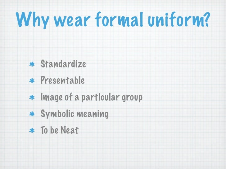 importance of school uniform