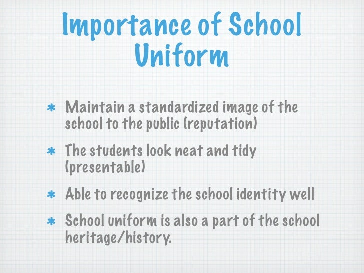 importance of wearing uniform