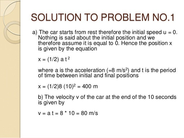 problem solving with solution