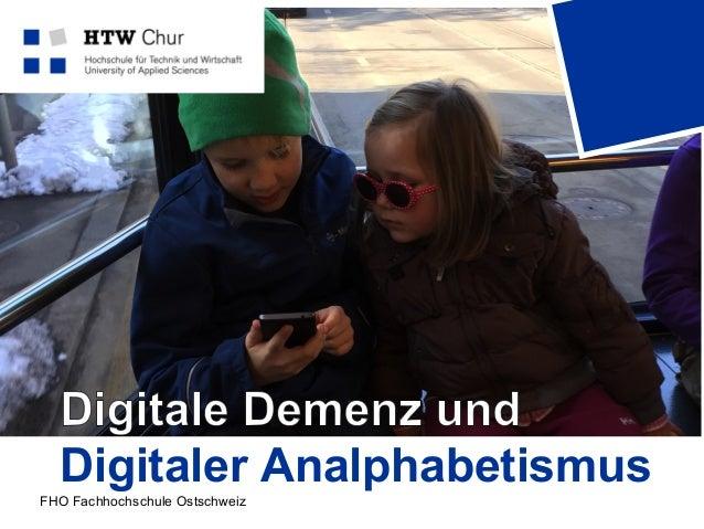 FHO Fachhochschule Ostschweiz Digitaler Analphabetismus