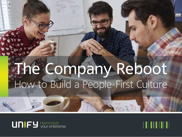The Company Reboot How to Build a People-First Culture