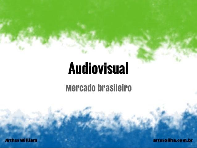 ArthurWilliam arturoilha.com.br Audiovisual Mercado brasileiro