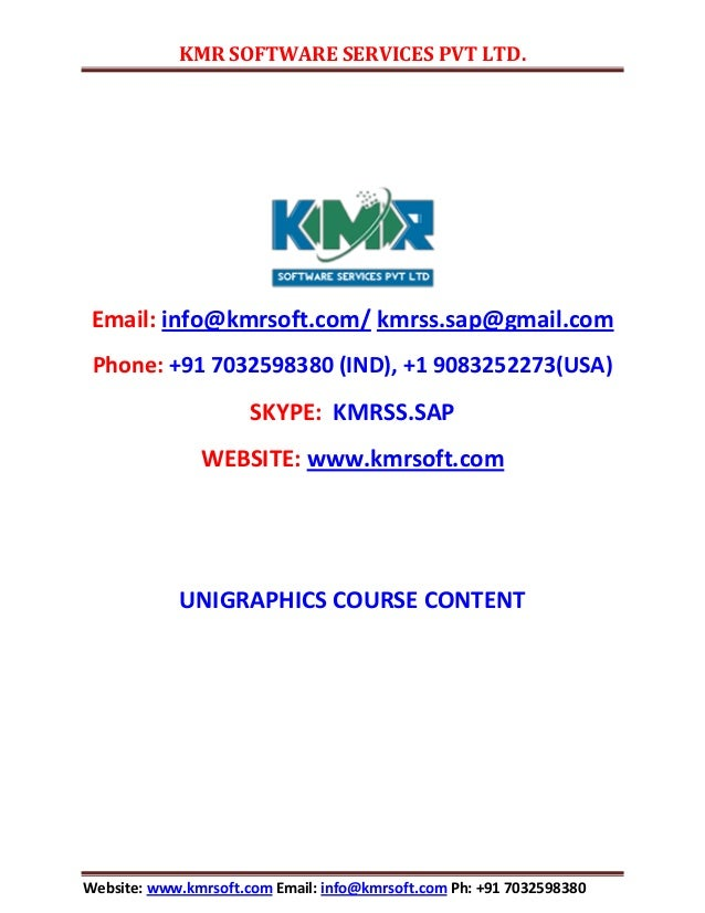 KMR SOFTWARE SERVICES PVT LTD. Website: www.kmrsoft.com Email: info@kmrsoft.com Ph: +91 7032598380 Email: info@kmrsoft.com...