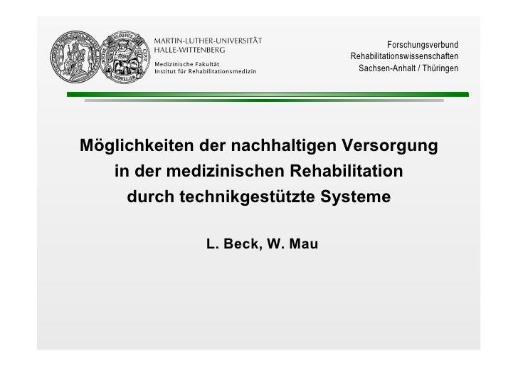 Forschungsverbund                                               Rehabilitationswissenschaften         Medizinische Fakultä...