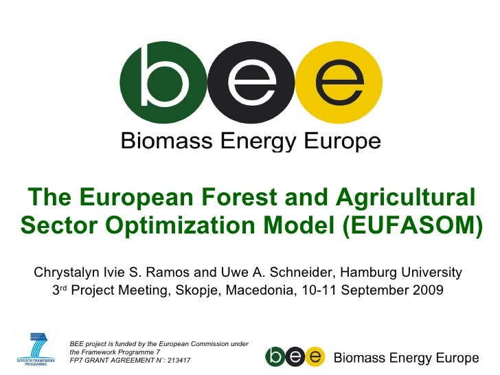 The European Forest and Agricultural Sector Optimization Model (EUFASOM) Chrystalyn Ivie S. Ramos and Uwe A. Schneider, Ha...