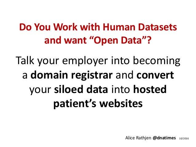 Unilateral De-Silo of Human Datasets Slide 2