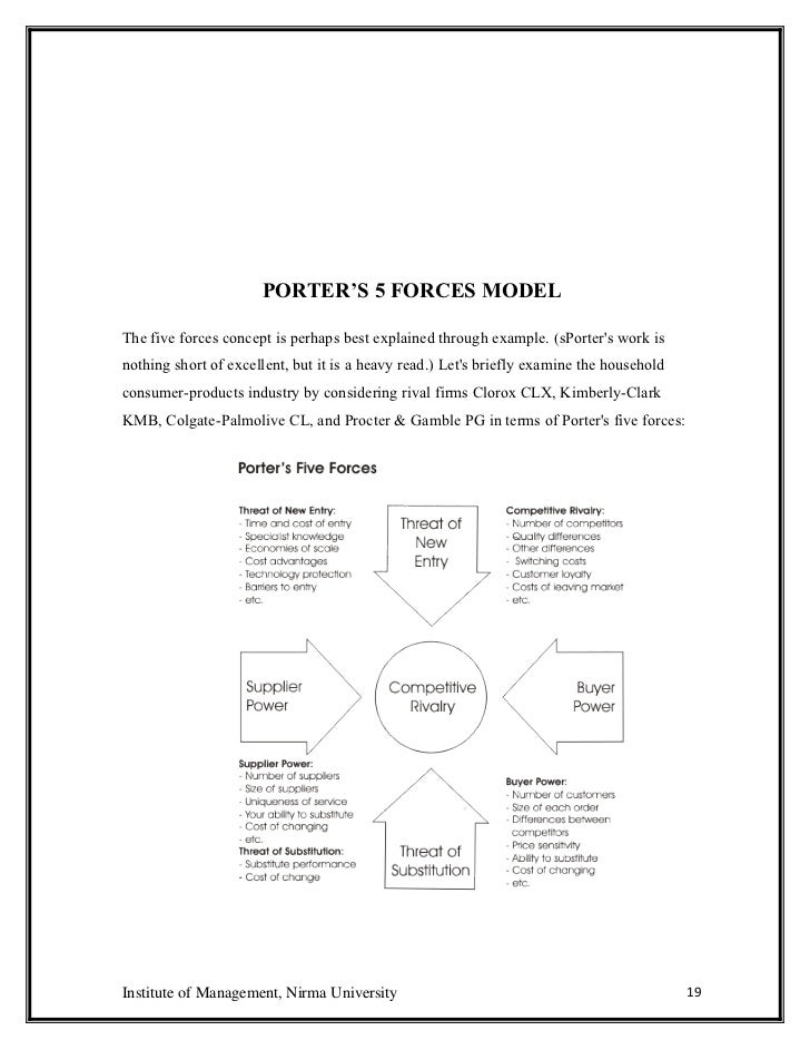porter five forces on colgate Search and upload all types of colgate palmolive company analysis projects for mba's on colgate marketing ( paint industry) by porter's five forces model.