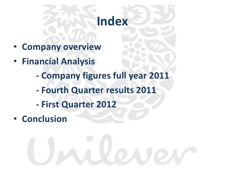 a company analysis of unilever Later that month unilever acquired remgro's interest in unilever south africa in exchange for the unilever south africa spreads business company's analysis.