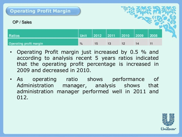 financial ratio analysis of unilever A ratio analysis report on by, ruta gadhiya a project on analysis financial statements by using the technique ratio analysis for hindustan unilever limited.