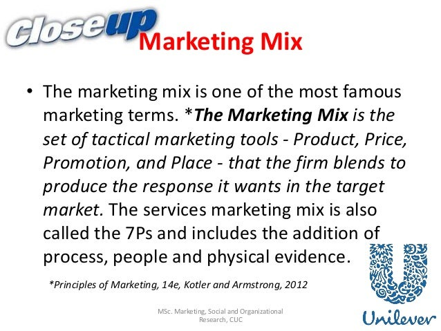 marketing mix of unilever There's never been a more exciting time to start a career in marketing at unilever unilever is the second-largest advertiser in the world.