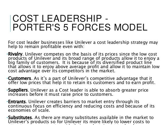 """unilever cost differentiation strategy More money"""" was perhaps the purest distillation of p&g's growth strategy, and  gillette  even if they did notice, i doubt the executives focused on the fusion  launch  and through responsive customer service and an ongoing focus on  social  for their part, unilever is fortunate they don't have a shaving."""