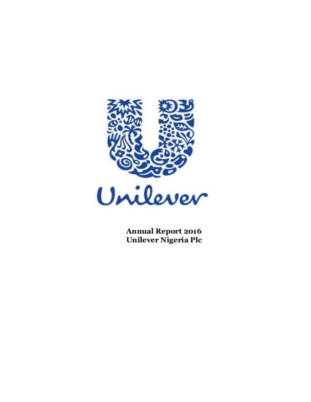 Annual Report 2016 Unilever Nigeria Plc