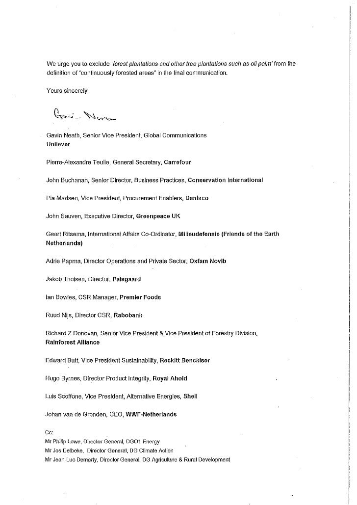 Unilever letter to eu re forest f - Define executive office of the president ...