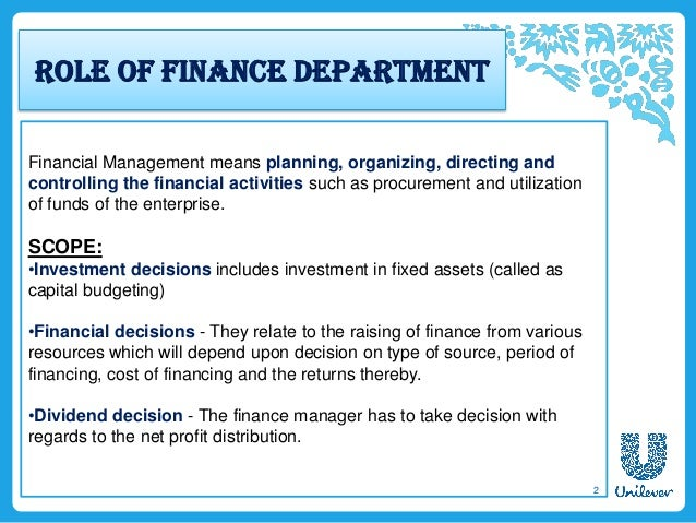 the role of finance management Who is a financial manager a financial manager is a person who is responsible  in a significant way to carry out the finance decision it should.