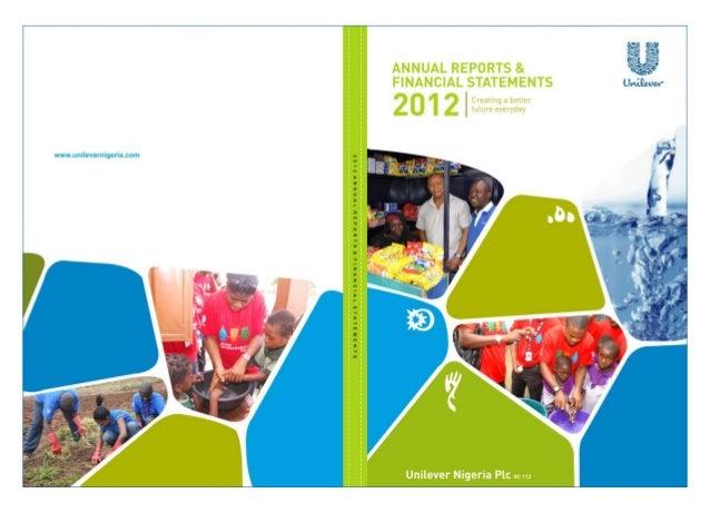 Unilever Nigeria Annual Report 2012