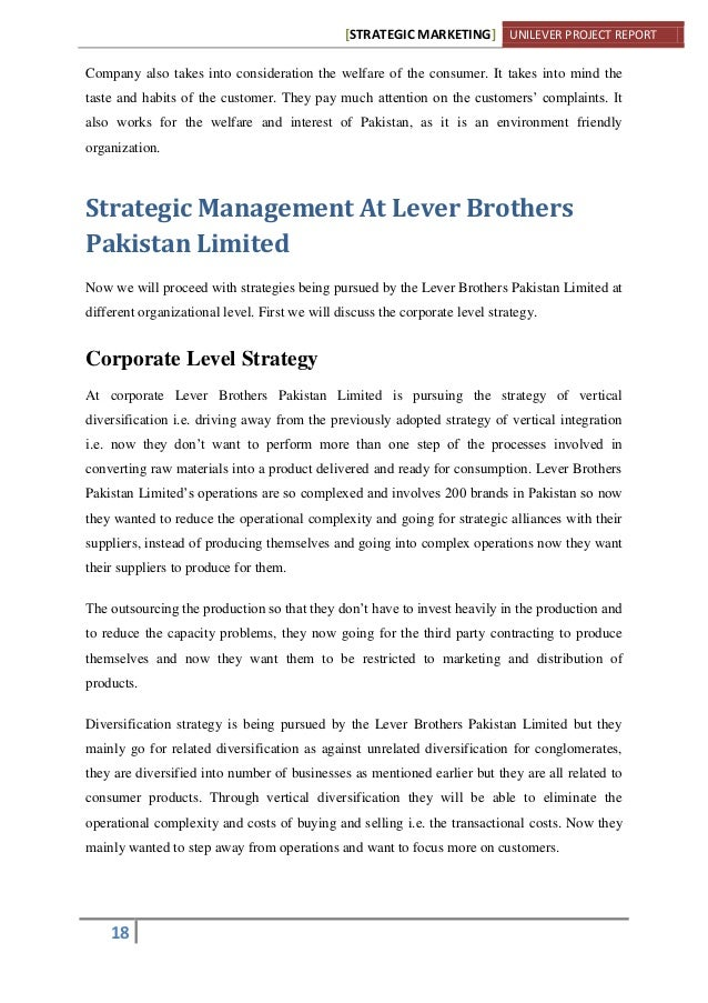 introduction to lever brothers pakistan limited essay Canada 's governor of northern nigeria, 1907-1909   this site consists of a ten-thousand-word essay on  the british firm of lever brothers merged the african.