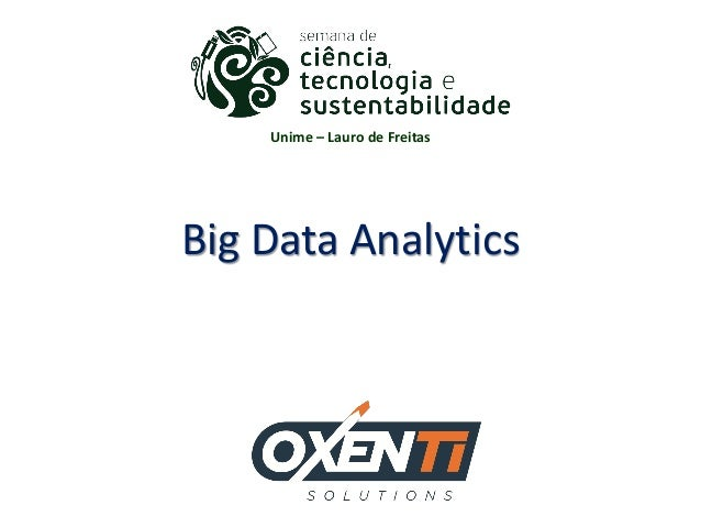 Big Data Analytics Unime – Lauro de Freitas