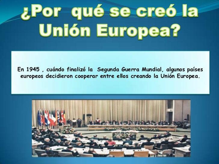 Uni n europea for Cuando se creo la arquitectura