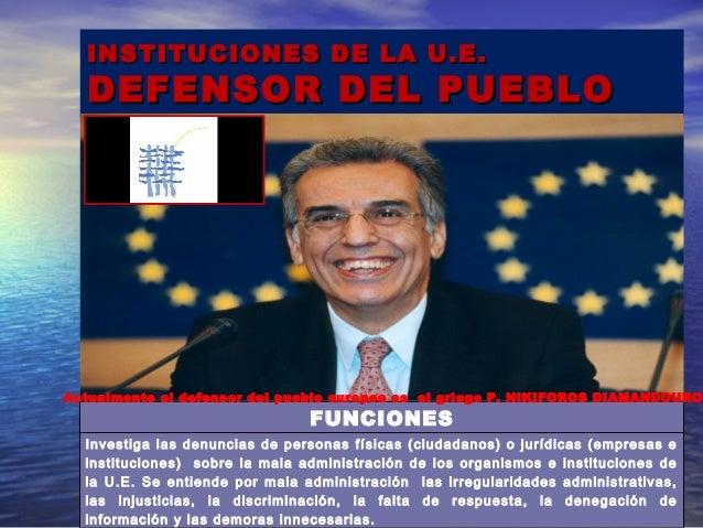 Uni n europea ppt for Oficina del defensor del pueblo