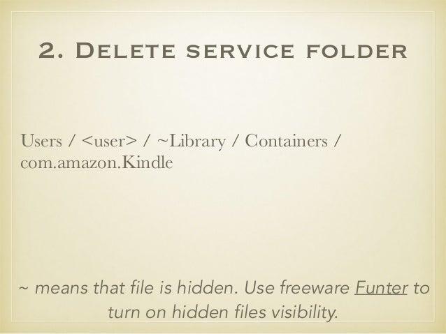Uninstall Kindle on Mac