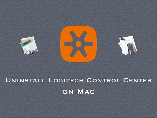 mac os x logitech control center uninstall