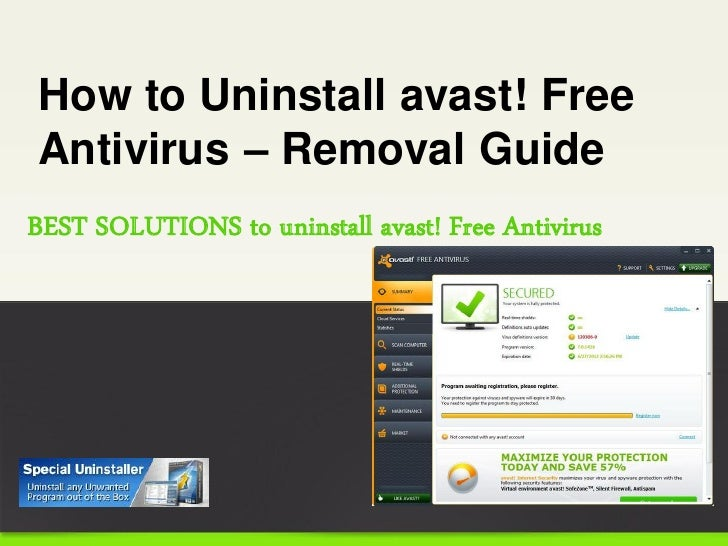 how to delete avast antivirus