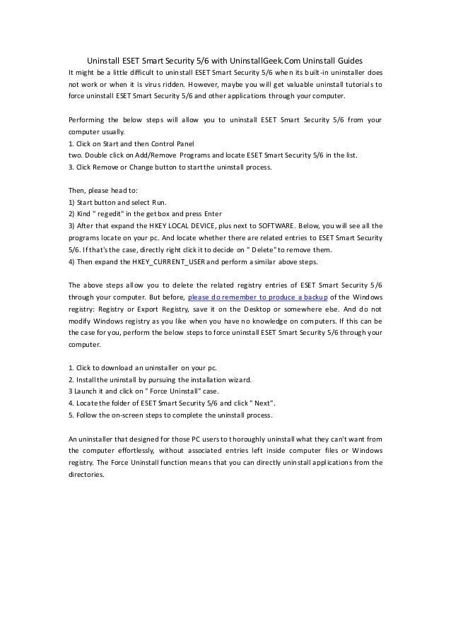 Uninstall eset smart security or eset nod32 antivirus 4 youtube.