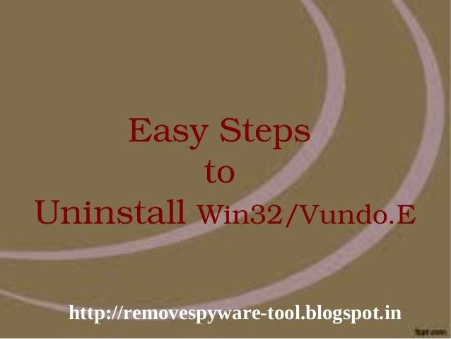 EasySteps          toUninstallWin32/Vundo.E  http://removespyware-tool.blogspot.in