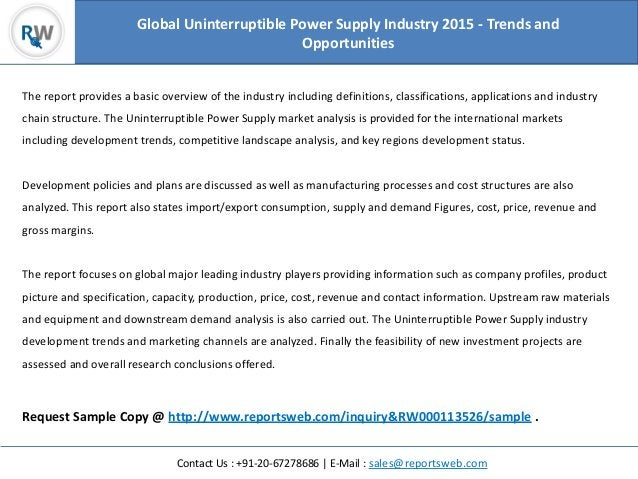 Contact Us : +91-20-67278686   E-Mail : sales@reportsweb.com The report provides a basic overview of the industry includin...