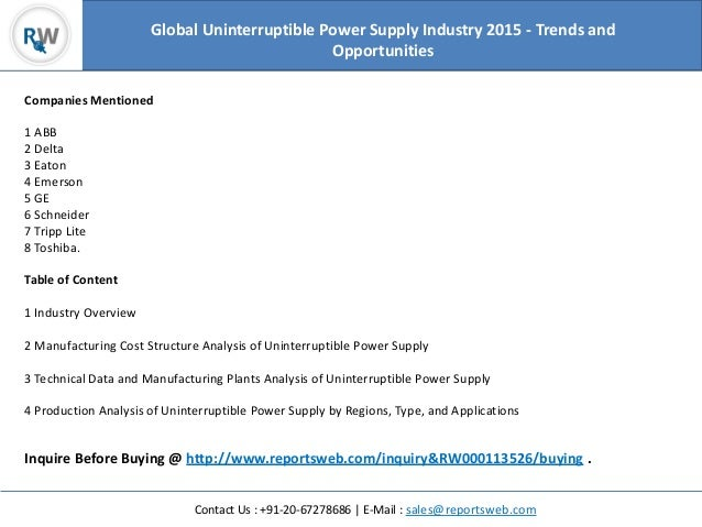 an analysis of uninterruptible power supply In this paper, a high-performance control structure is designed, implemented, and applied to a three-phase series–parallel uninterruptible power supply (ups.