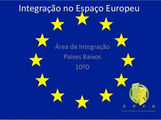 Integração no Espaço Europeu Área de Integração Países Baixos 10ºD