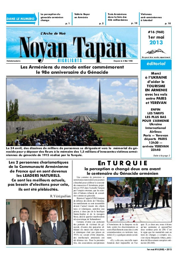 éditorial#16 (960)1er mai2013Ne peut être vendu séparément1er mai #16 (960) w 2013L'Arche de NoéH I G H L I G H T SHebdoma...