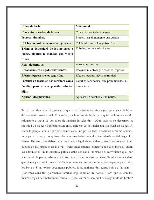 Union d hechos pdf - Tramites para casarse por lo civil ...