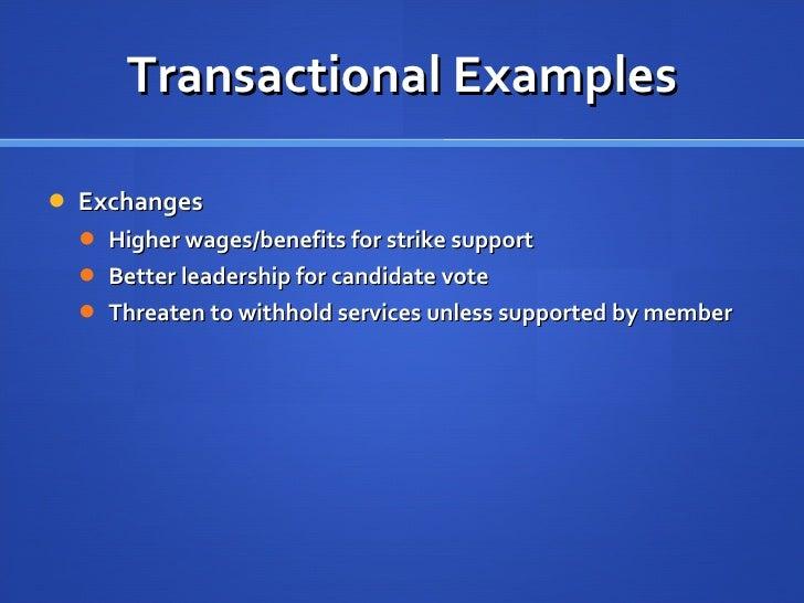 Reward and punishment in transactional leadership