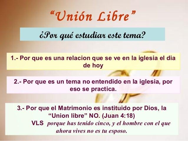 Matrimonio Union Libre : Union libre