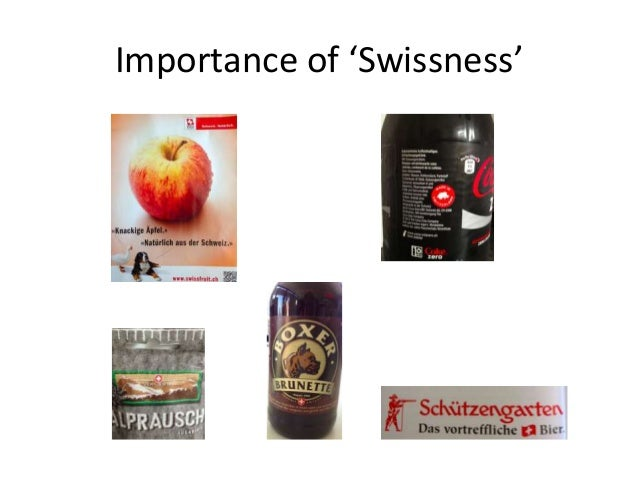 Importance of 'Swissness'