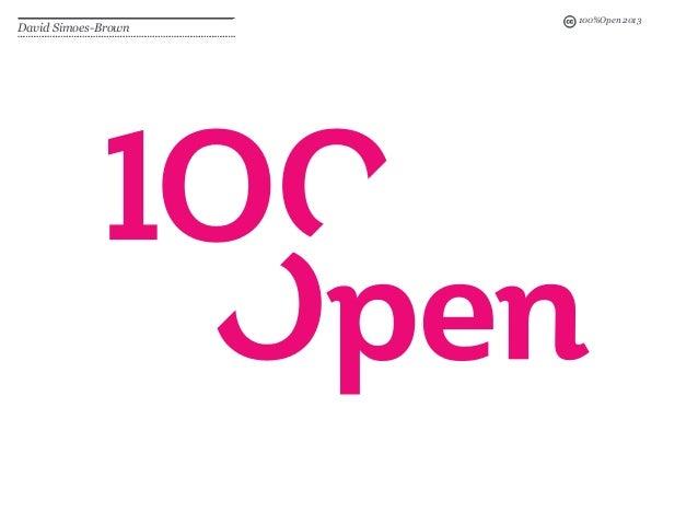 100%Open 2013 David Simoes-Brown