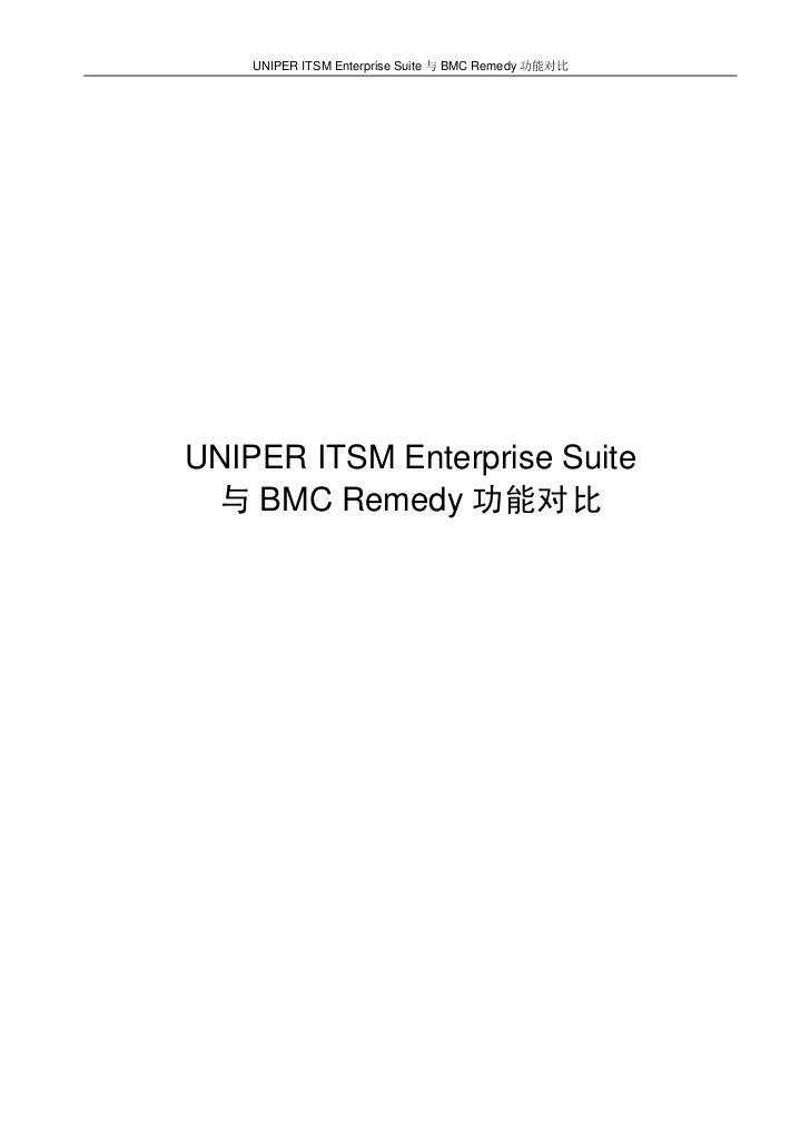 UNIPER ITSM Enterprise Suite 与 BMC Remedy 功能对比UNIPER ITSM Enterprise Suite 与 BMC Remedy 功能对比