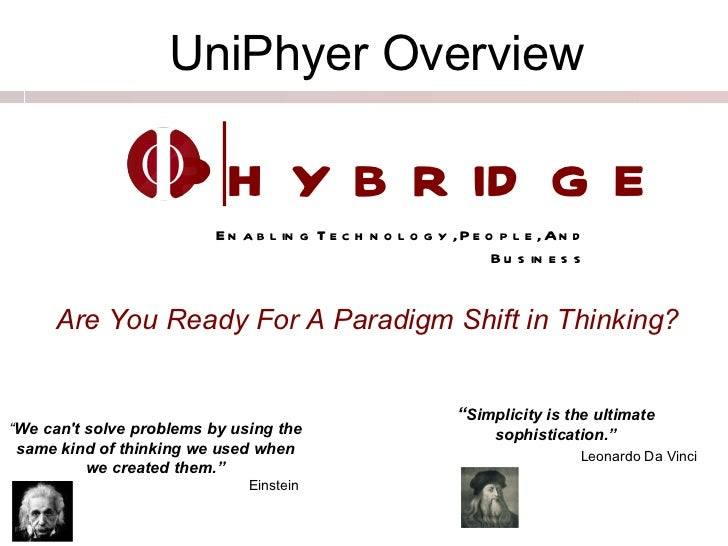 "Phybridge Enabling Technology, People, And Business I O "" Simplicity is the ultimate sophistication."" Leonardo Da Vinci   ..."